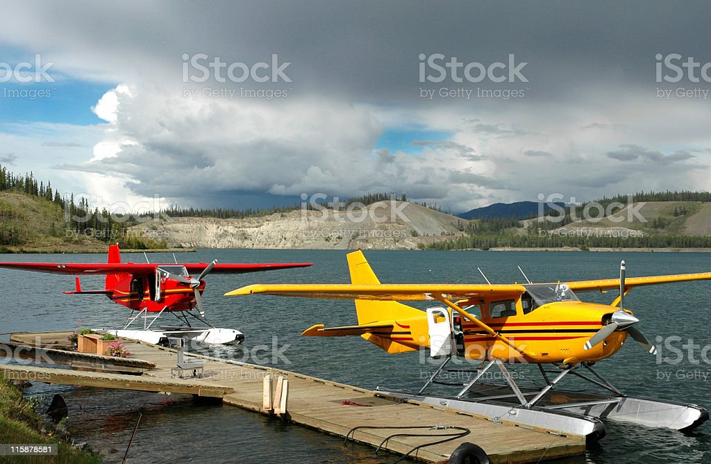 Seaplanes royalty-free stock photo