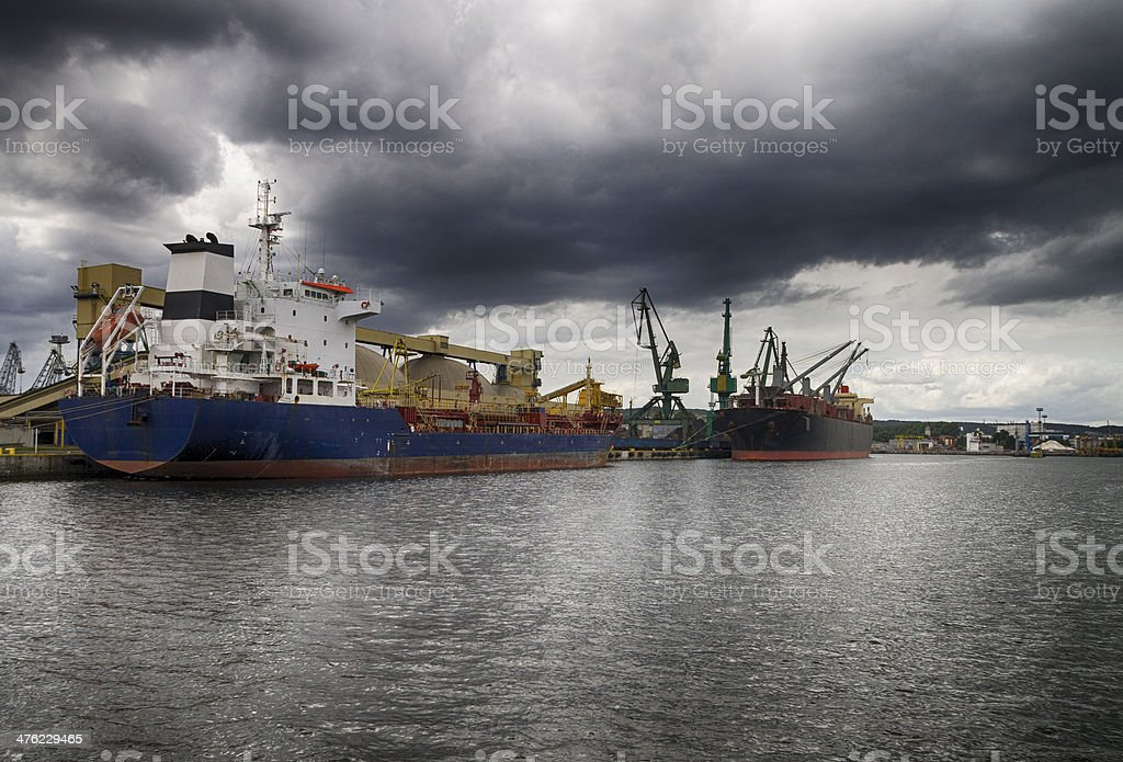 Seaport before the storm royalty-free stock photo
