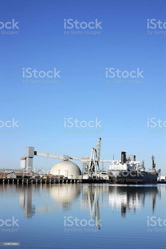 Seaport Ship Reflection royalty-free stock photo