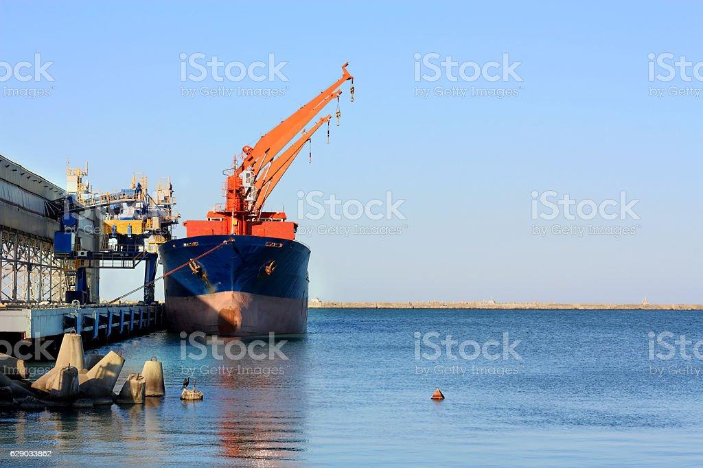 Seaport terminal stock photo