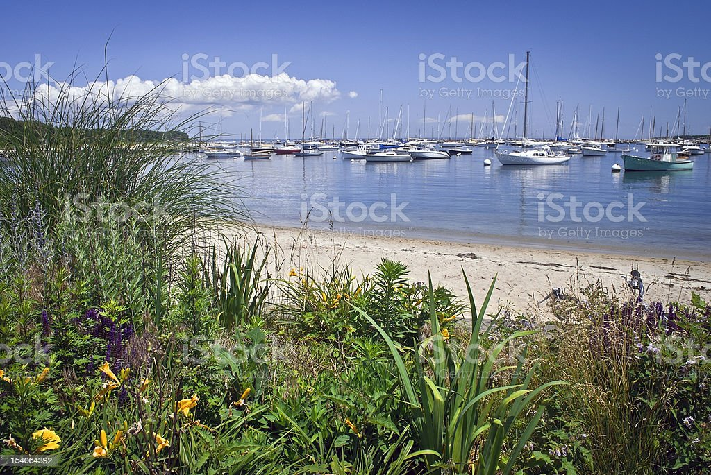 Seaport View Martha's Vineyard stock photo