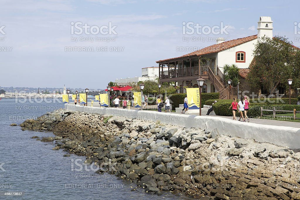 Seaport Village in San Diego, California royalty-free stock photo