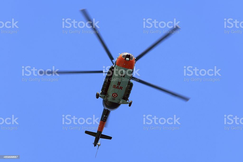 Search and rescue helicopter (SAR) stock photo