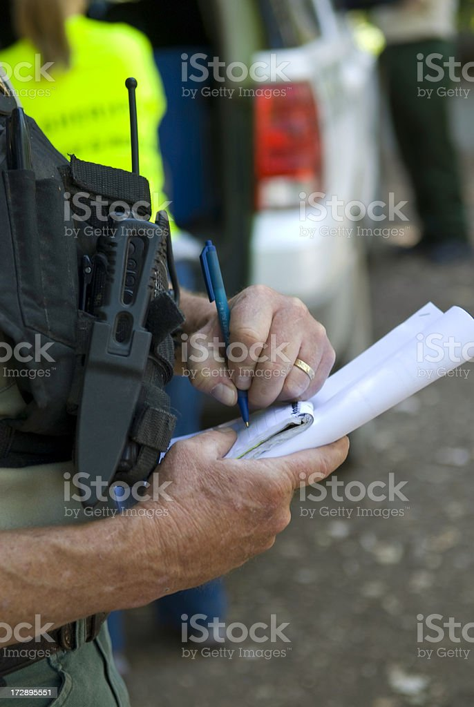 Search and Rescue -- writing notes royalty-free stock photo