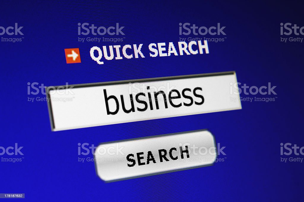 Search business royalty-free stock photo