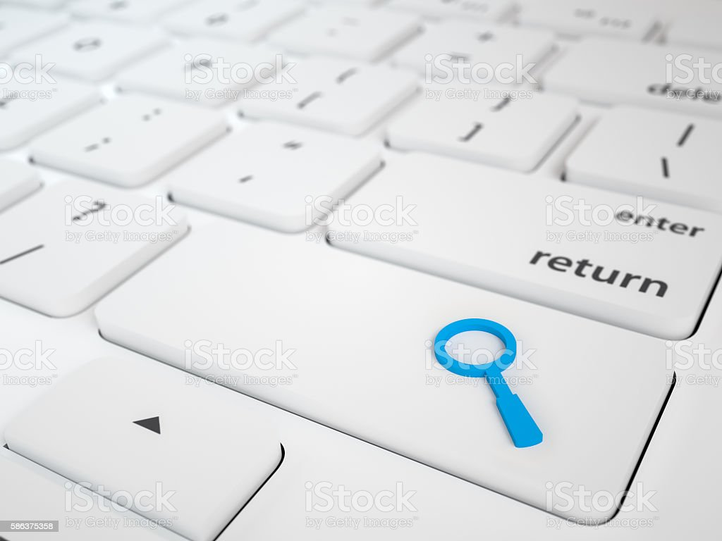 Search Button Key stock photo