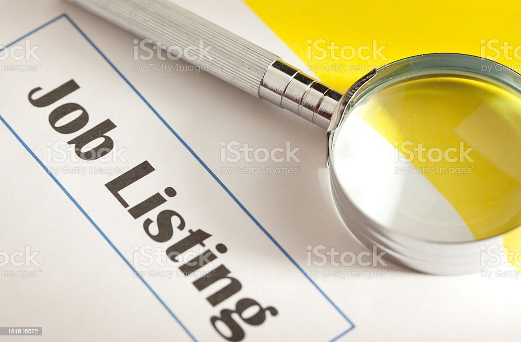 Search Employment royalty-free stock photo