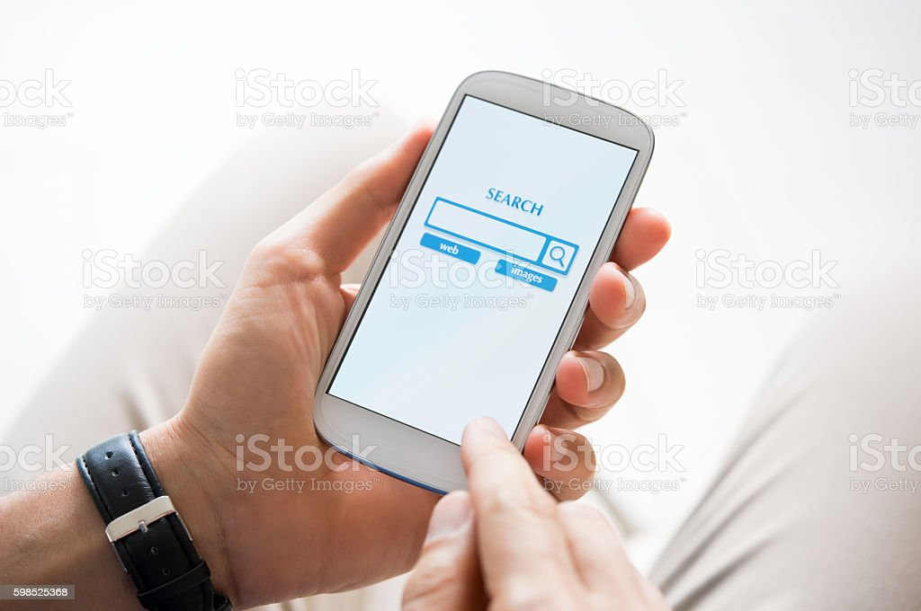 Search engine on web stock photo