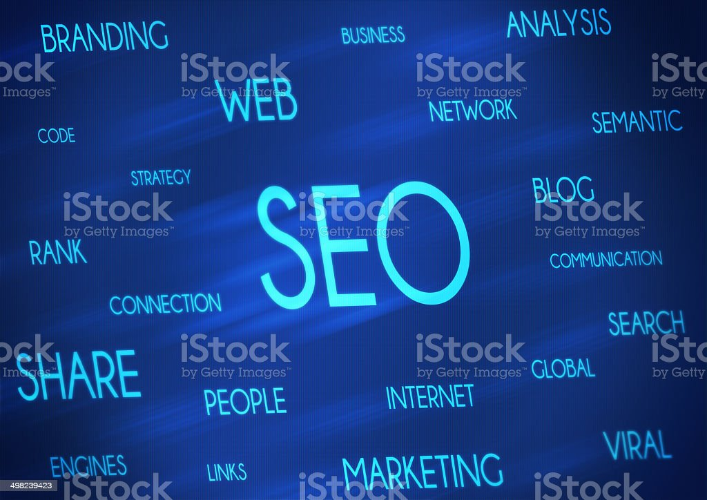 Search Engine Optimization Digital Screen stock photo