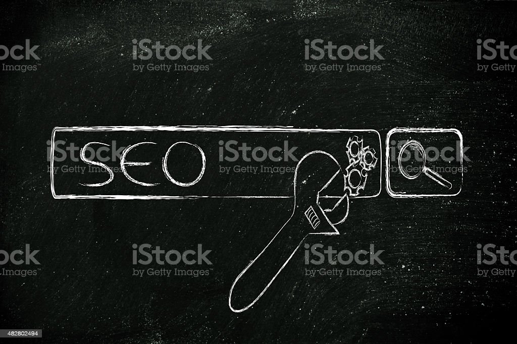 SEO, search engine optimization stock photo