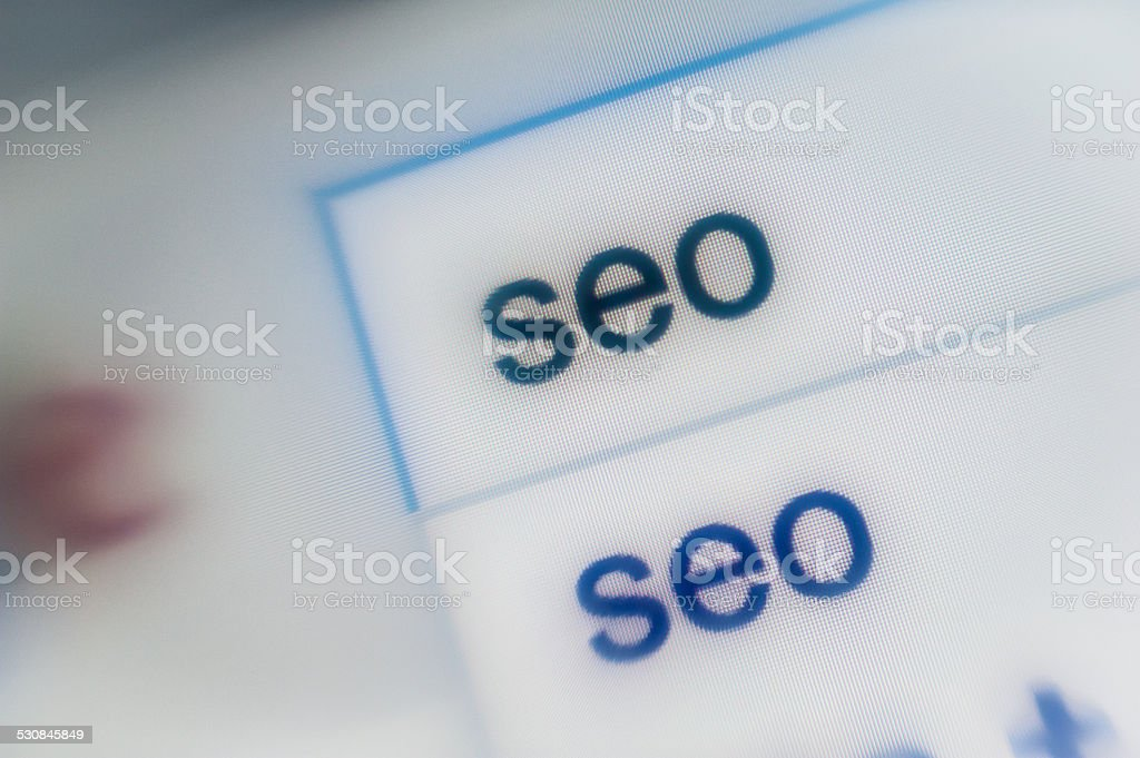 SEO Search engine optimization stock photo