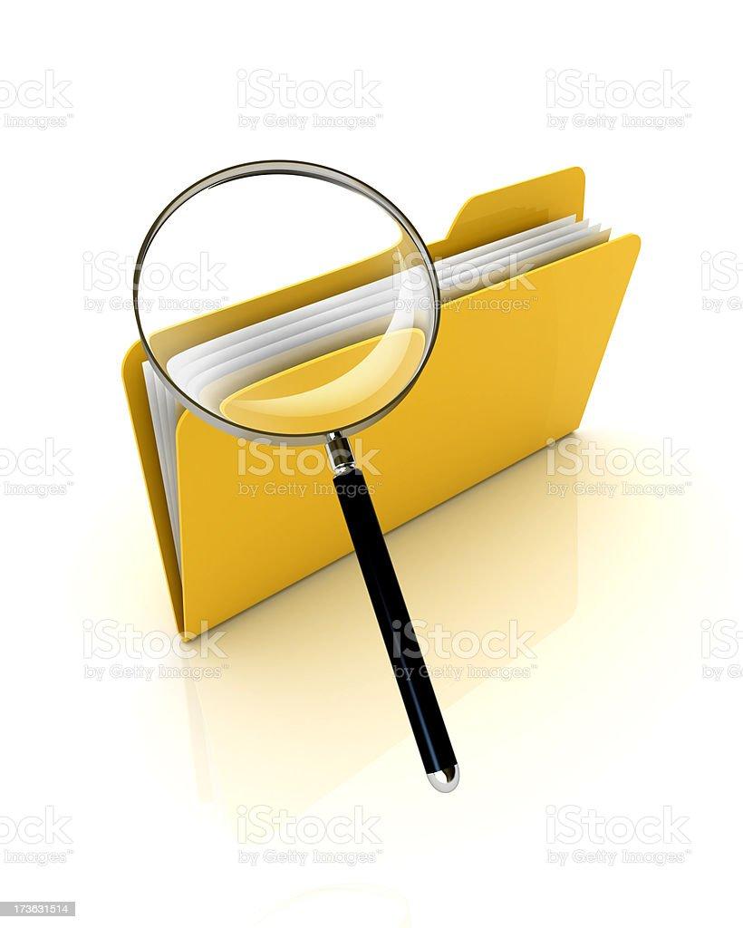 Search folder royalty-free stock photo