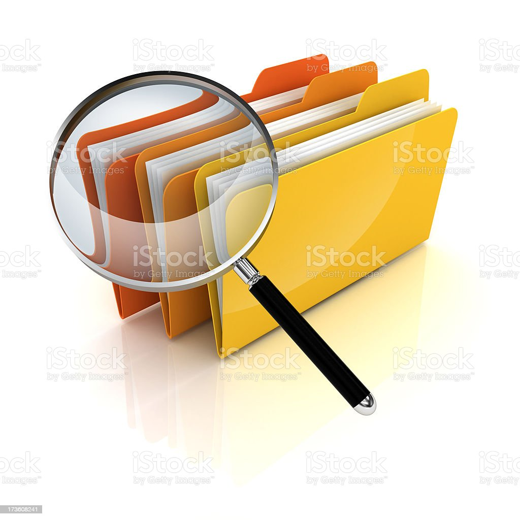 Search folders or archive royalty-free stock photo