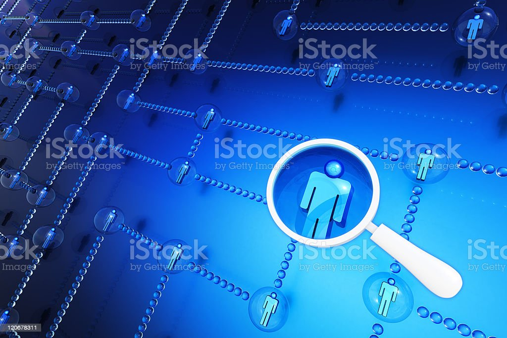 Search for a person stock photo