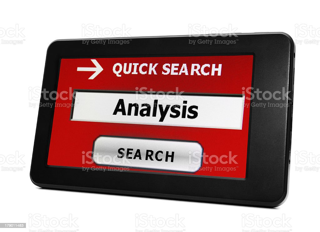 Search for analysis royalty-free stock photo
