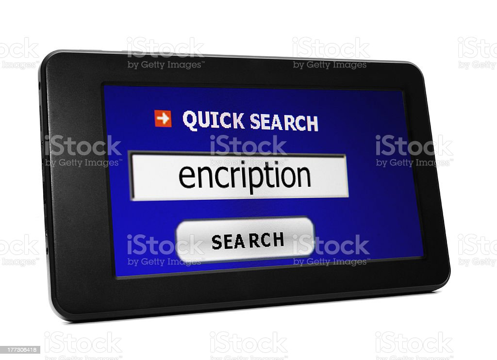 Search for encription royalty-free stock photo