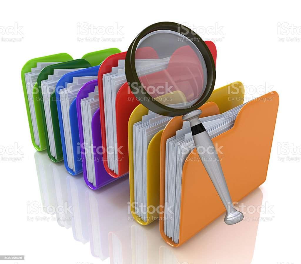 search for files in the folder stock photo