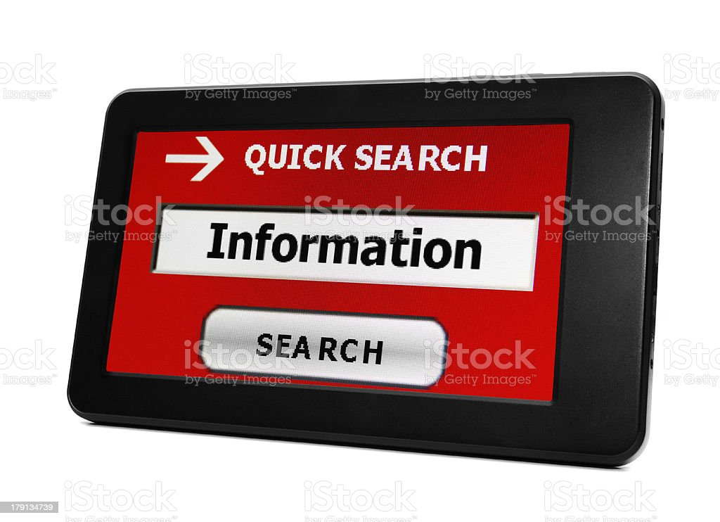 Search for information stock photo