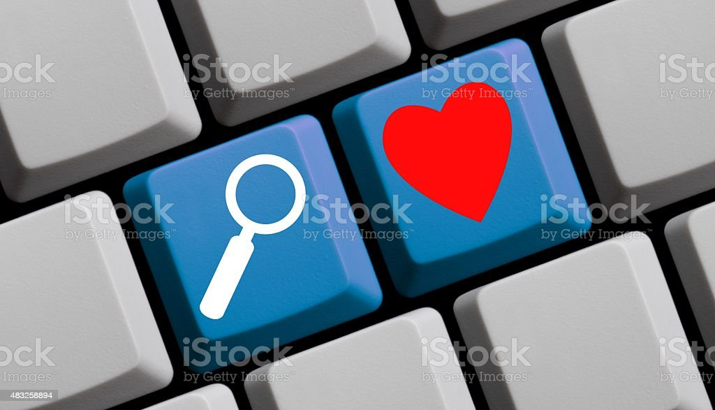 Search for love online stock photo