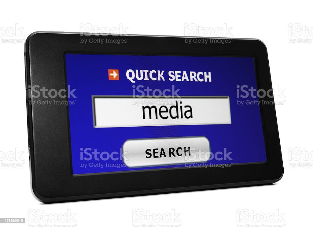 Search for media royalty-free stock photo