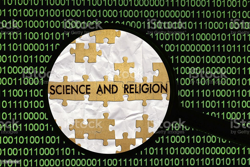 Search for science and religion royalty-free stock photo