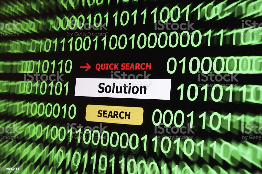 Search for solution royalty-free stock photo