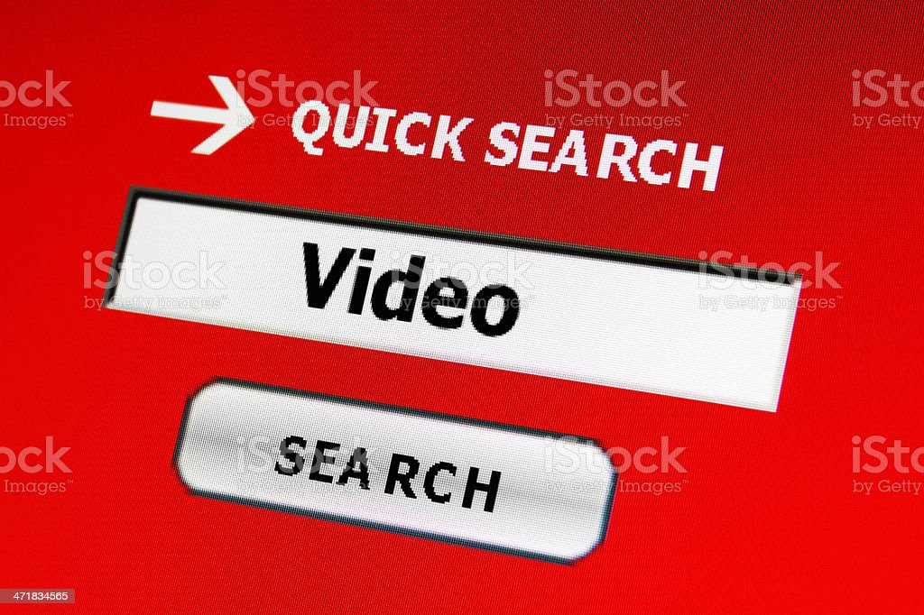 Search for video royalty-free stock photo