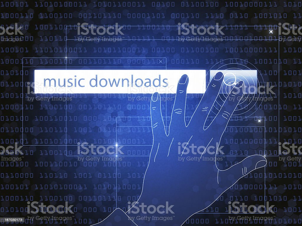 Search for Word 'Music' royalty-free stock photo