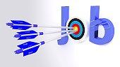 Search for work concept illustration job target