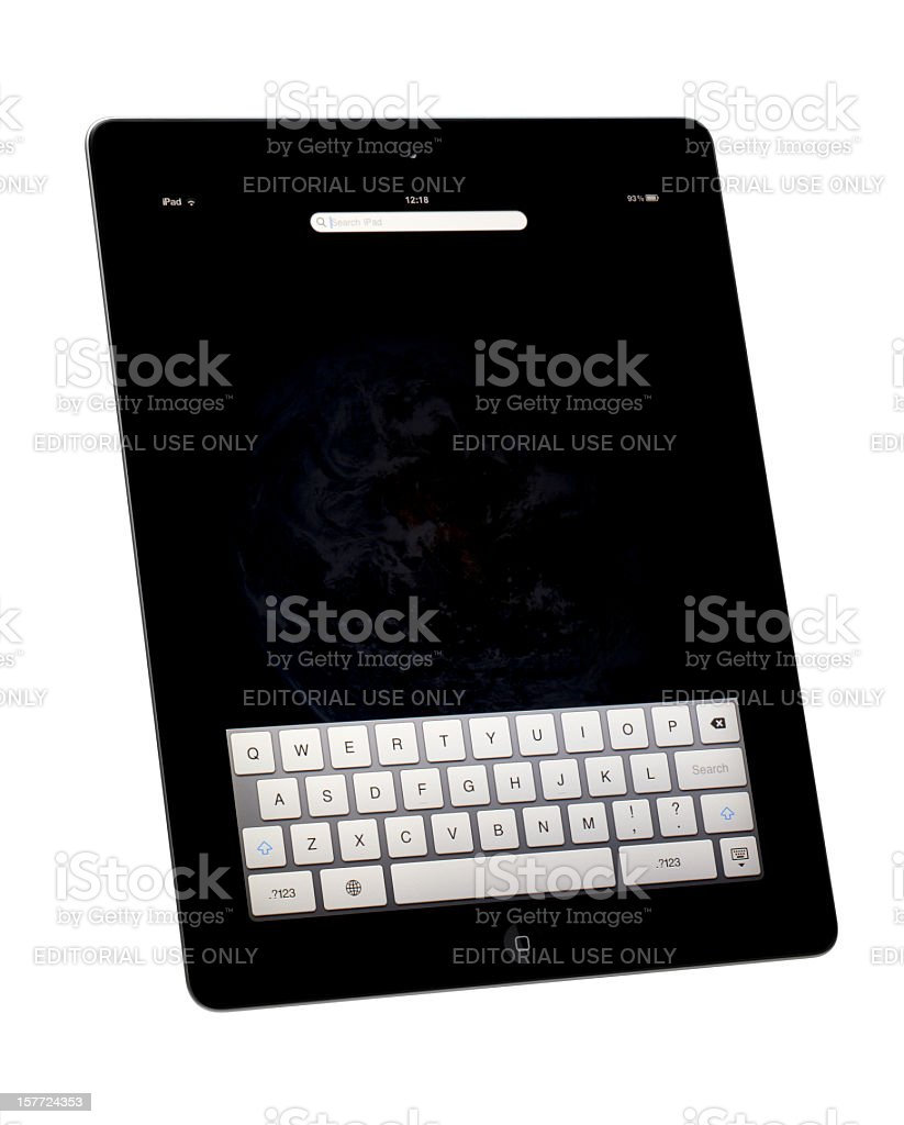 Search iPad royalty-free stock photo