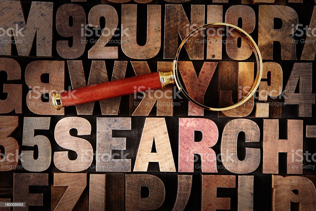 Search - Letterpress letters royalty-free stock photo