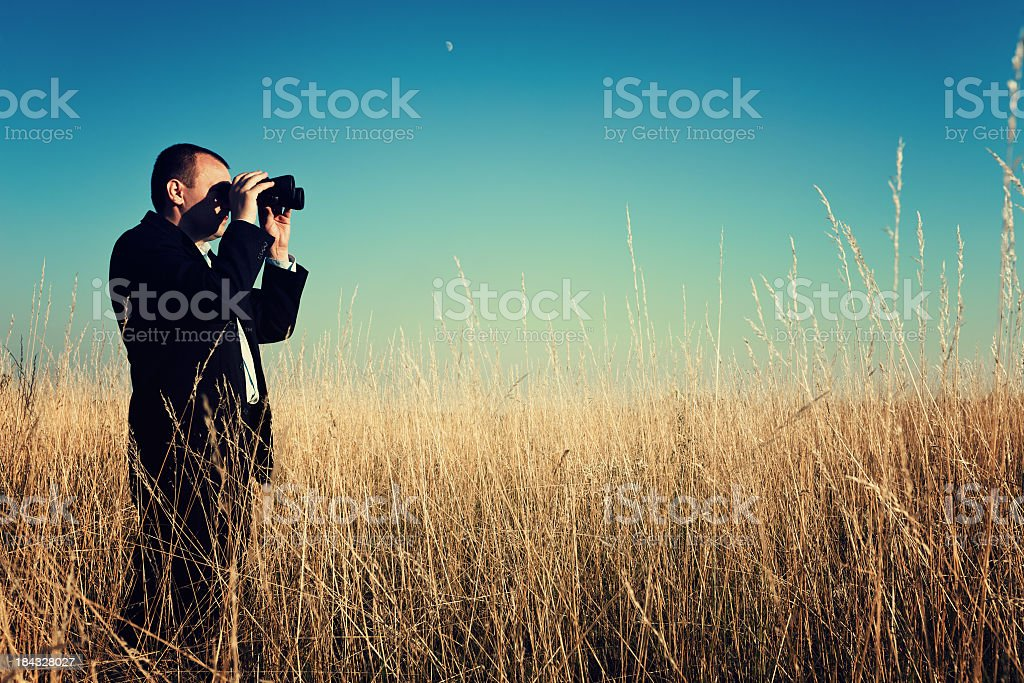 Search of an idea stock photo