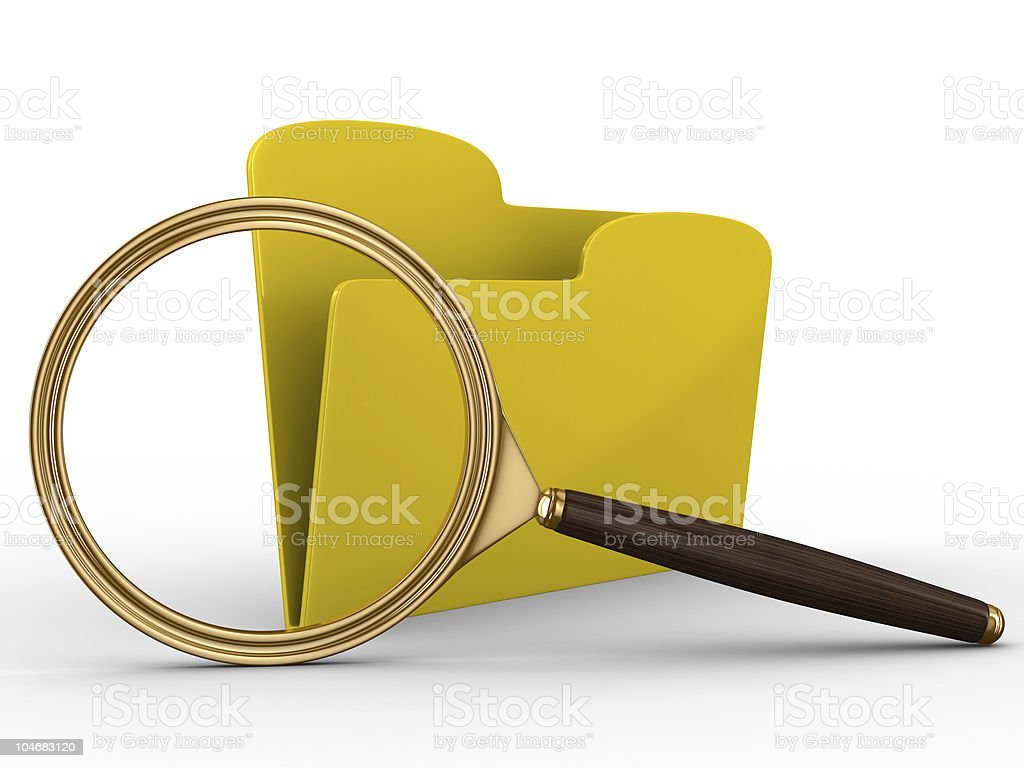Search of data. Isolated 3D image on white royalty-free stock photo