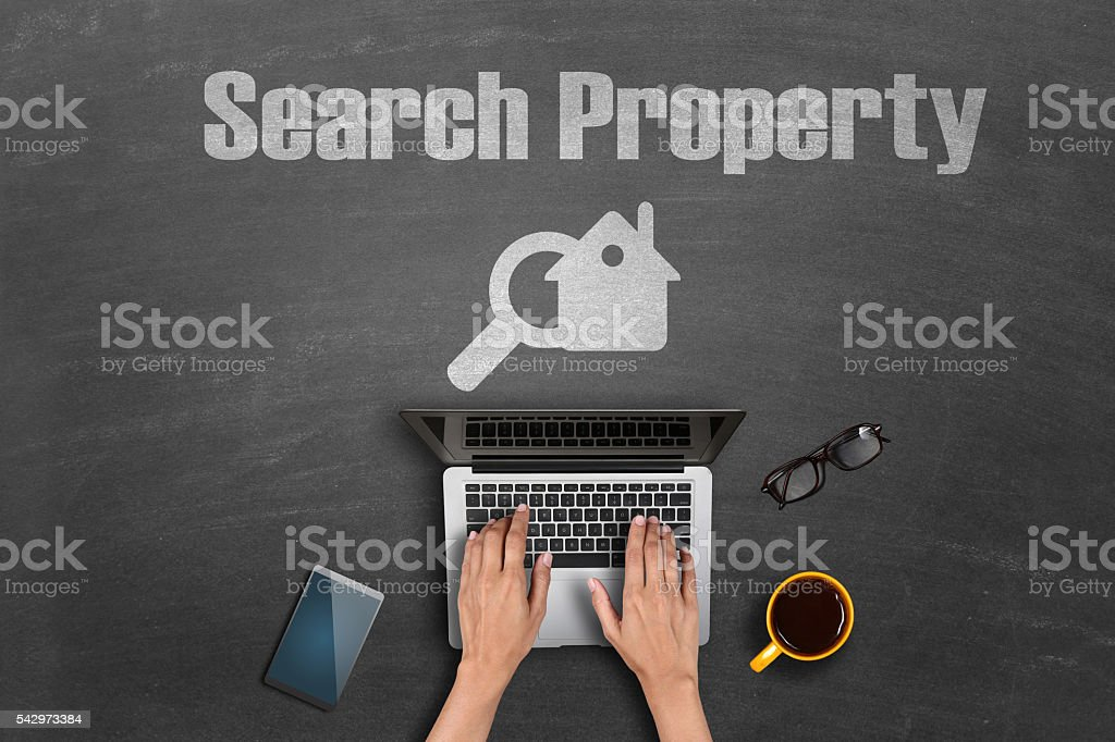 Search Property Concept stock photo