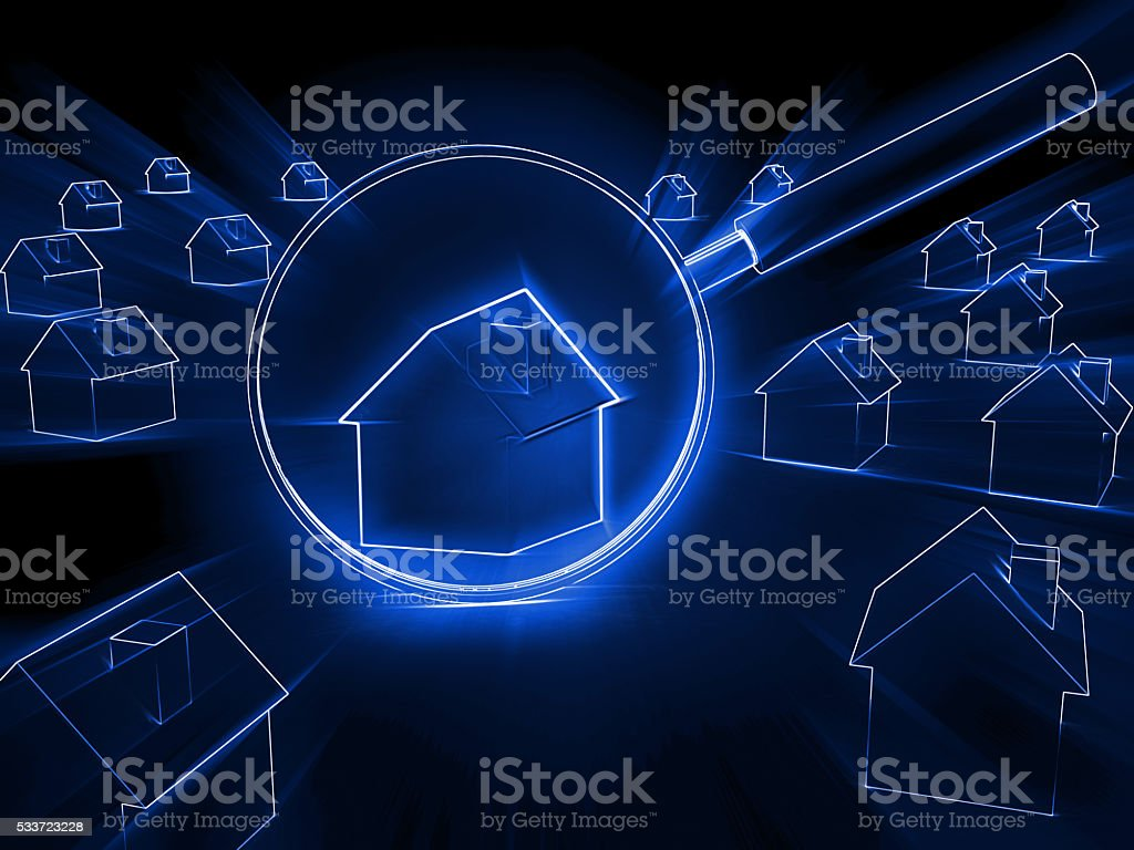 Search real estate house market concept stock photo