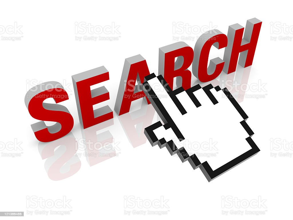 Search Text with Mouse Cursor royalty-free stock photo