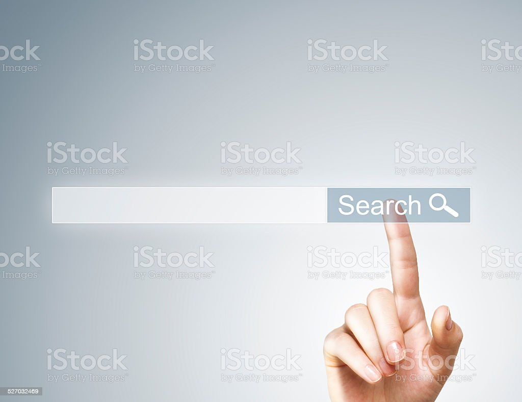 Search / Touch screen (Click for more) stock photo
