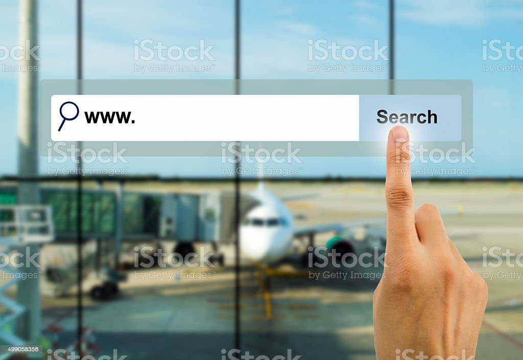 searching a flight stock photo