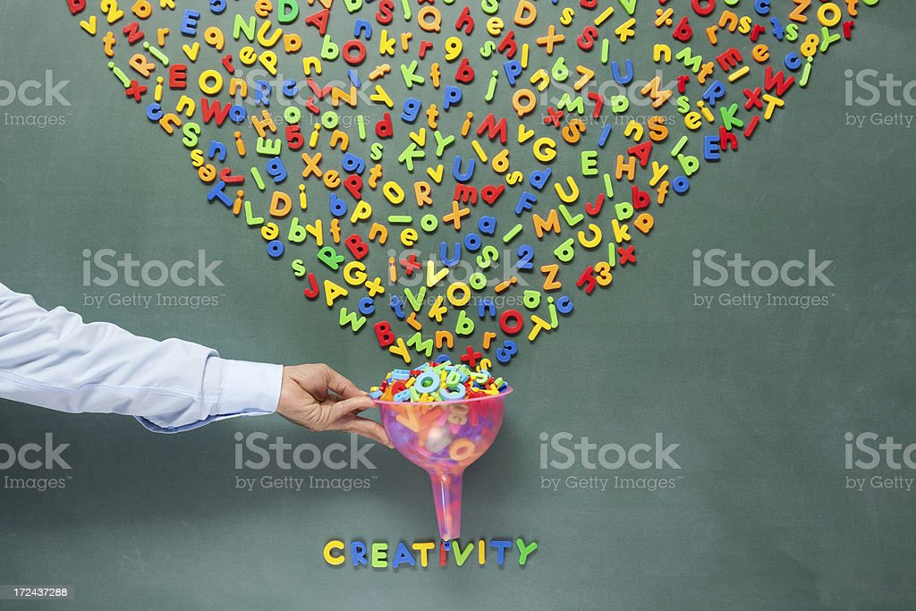 Searching and filtering information on blackboard for communication royalty-free stock photo