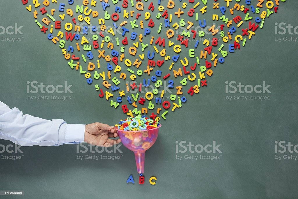 Searching and filtering words on blackboard royalty-free stock photo