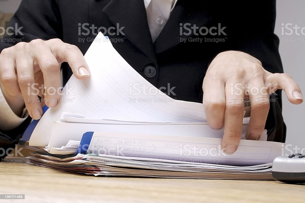 Searching Documents 1 royalty-free stock photo