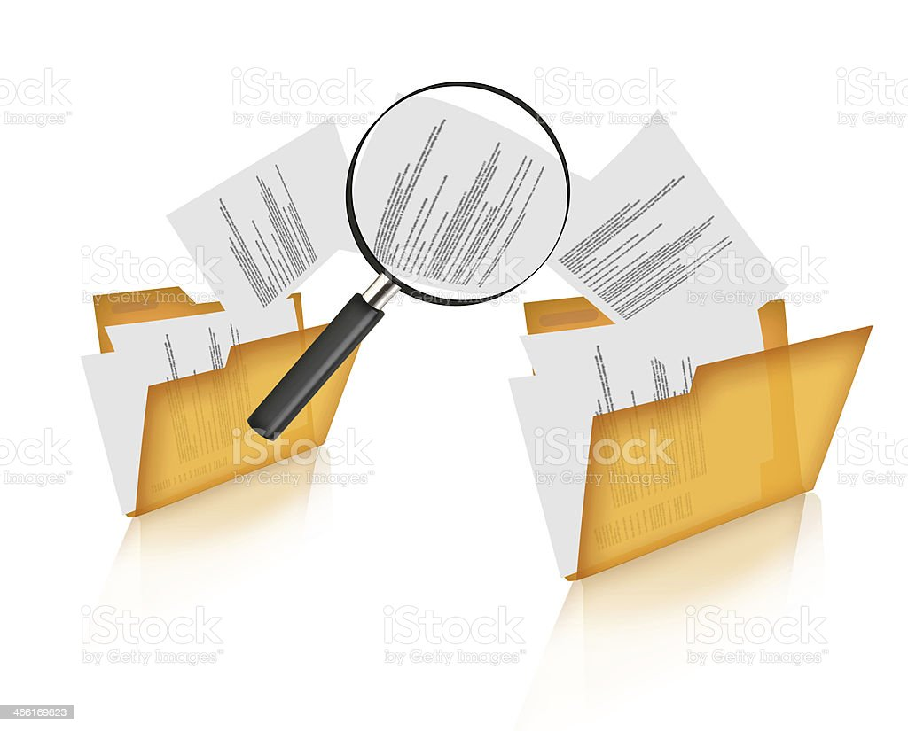 Searching documents concepts stock photo