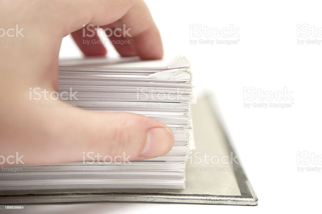 Searching Documents royalty-free stock photo