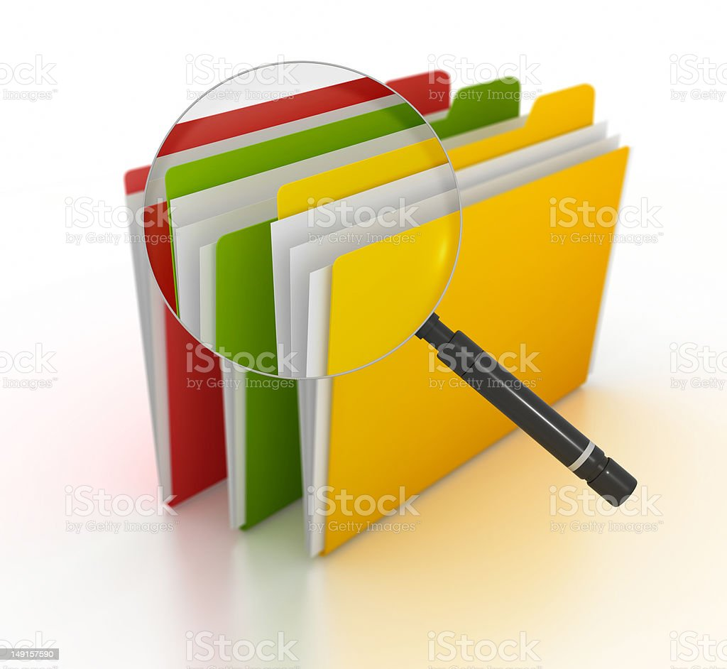 Searching File royalty-free stock photo