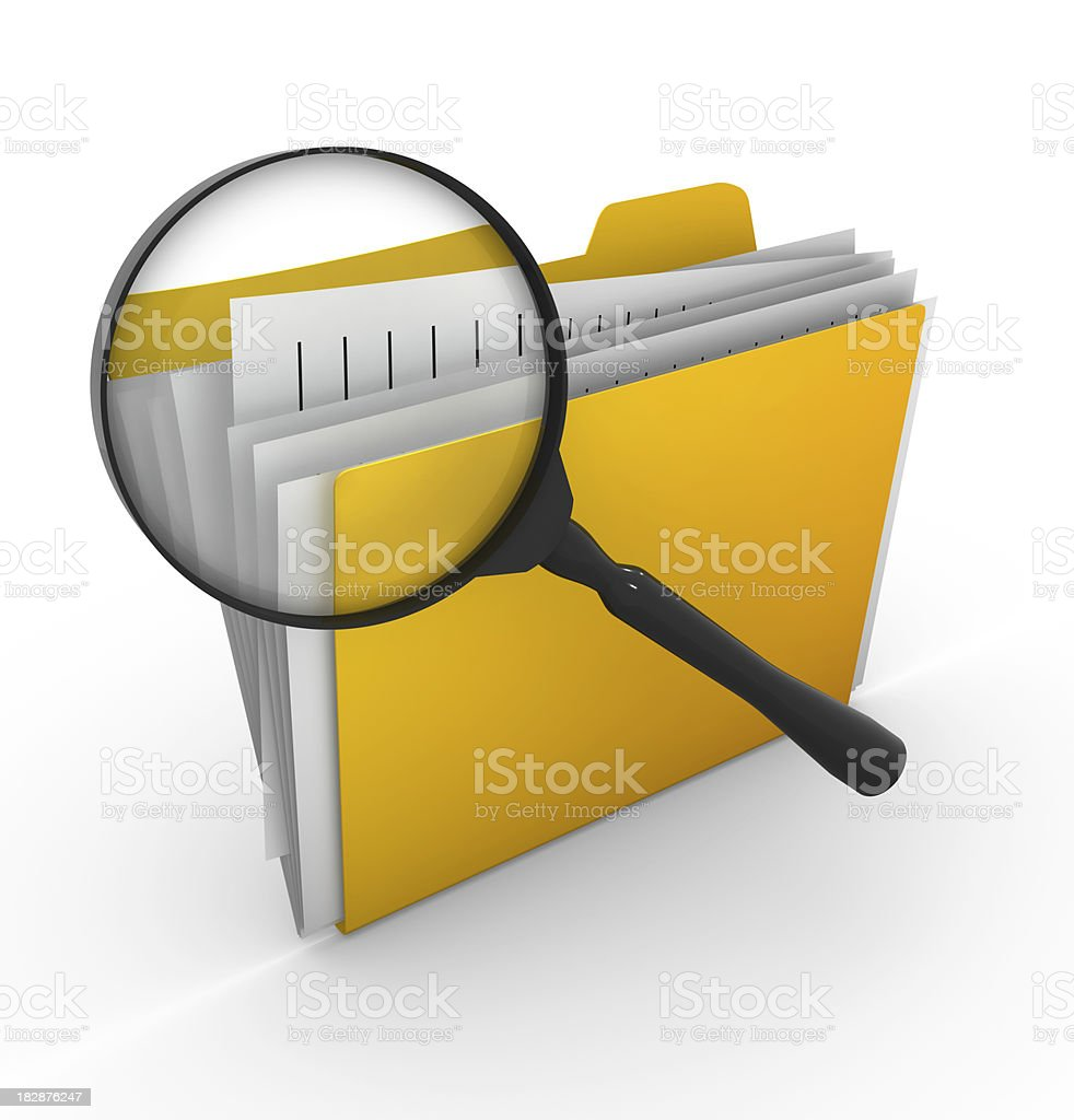 Searching File stock photo