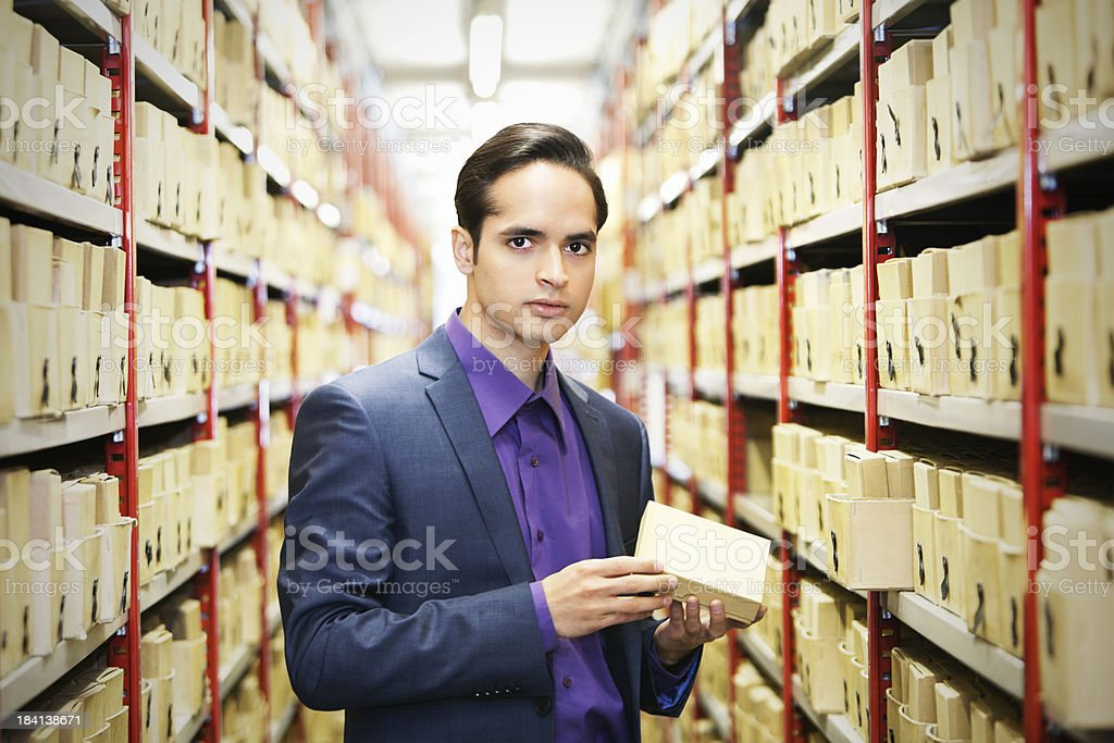 searching files in a archive royalty-free stock photo
