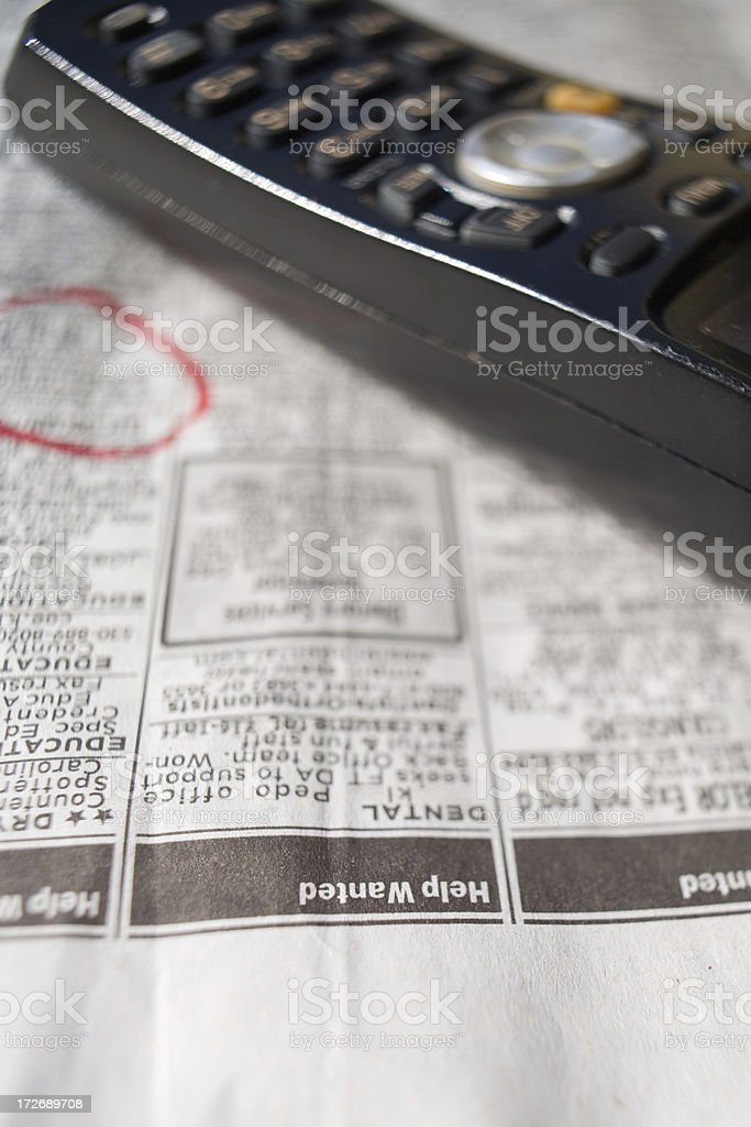 Searching For A Job royalty-free stock photo
