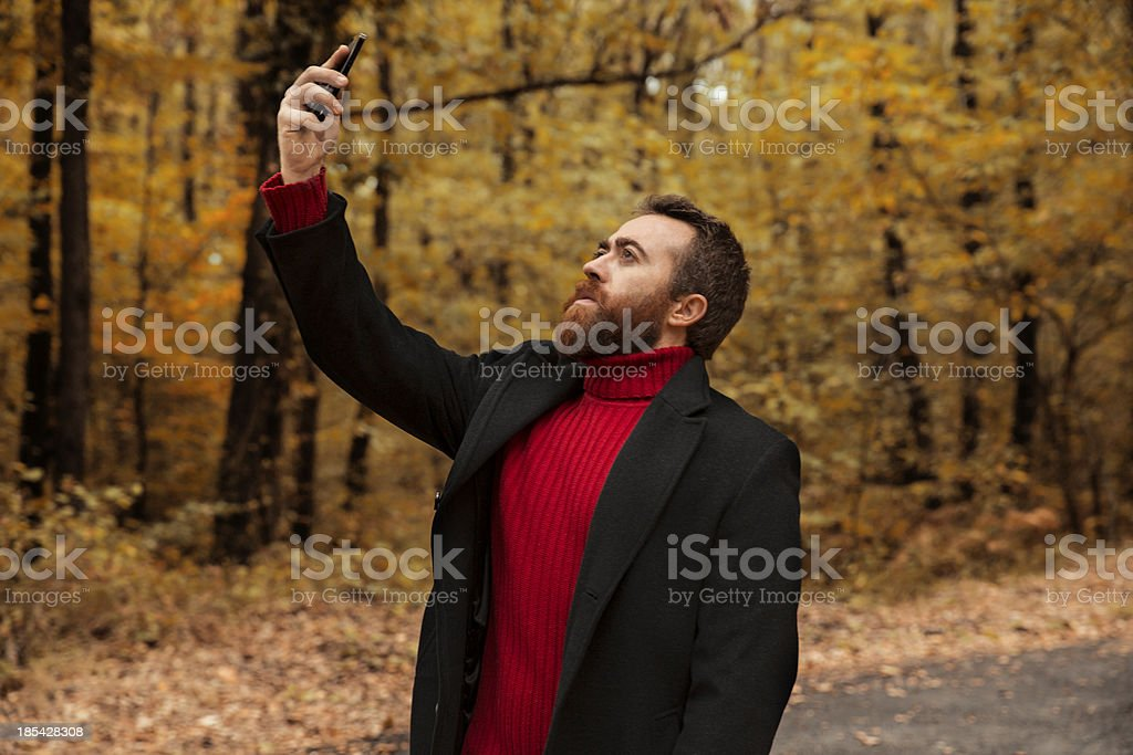 Searching for a Signal royalty-free stock photo
