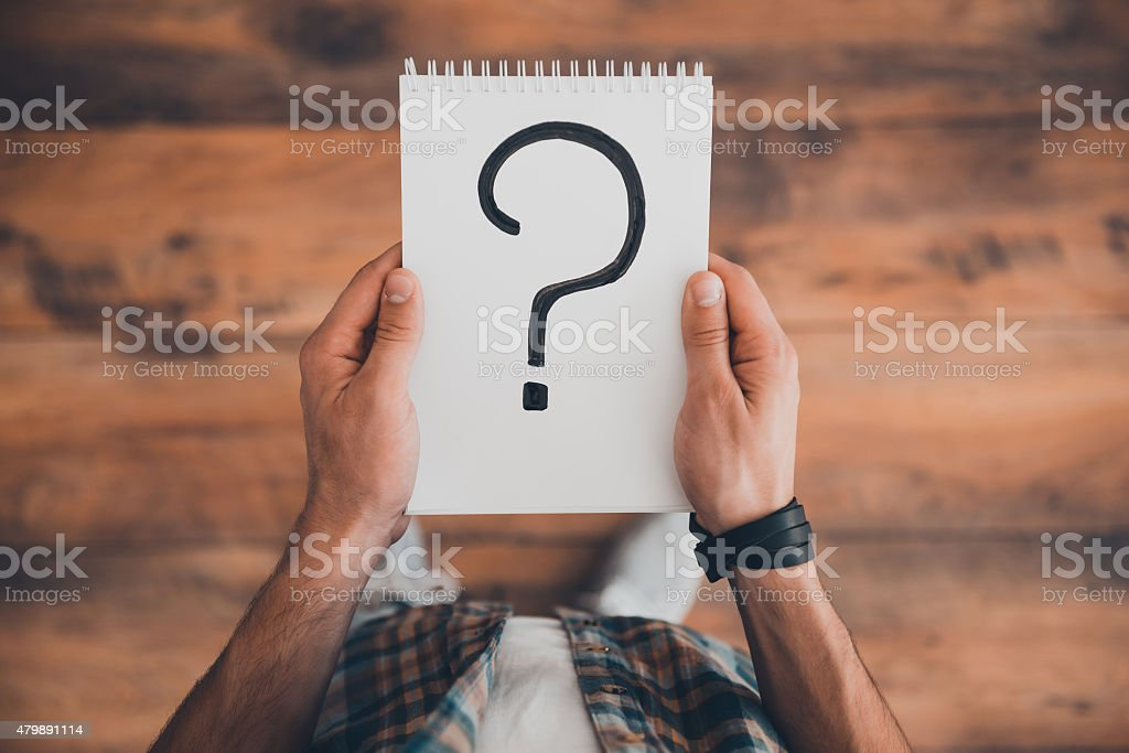 Searching for answers. stock photo