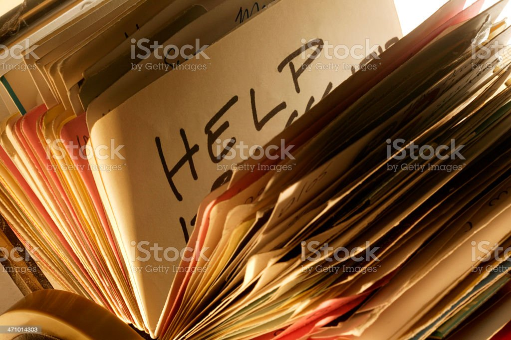 Searching for Help 2 royalty-free stock photo